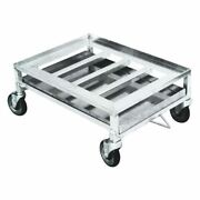 Hubert Aluminum Chicken Dolly With Drip Pan - 28l X 23w X 13h