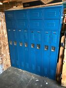 Penco 8-door Double Lockers Great For Work/storage Shoes And Clothes Garage