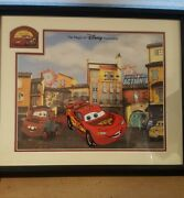 Disney Animation Cars Ka Chow Lightning Mcqueen Mater Ink And Paint Pin / Signed