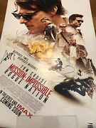 Mission Impossible Rogue Nation Poster Cast Signed Autographed Tom Cruise