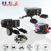 12v Dual Usb Charger Ports Power For Honda Gold Wing Valkyrie Rune Gl 1500 1800