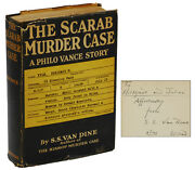 The Scarab Murder Case By S.s. Van Dine Signed First Edition 1930 Philo Vance