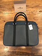 Menandrsquos Coach New York Leather Briefcase Laptop Computer Bag - Nwt
