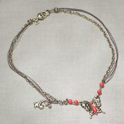 Jim Shore Jewelry - Red Coral Butterfly Necklace - New