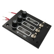 Marine 3 Gang Toggle Switch Panel With 5a Fuse For Caravans Rv 12v System