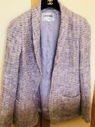 Purple Tweed Blazer Size M-l 38-40 Size On Label 40 But Can Suits 38