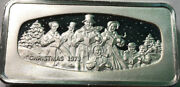 1973 Christmas Franklin Mint Silver Bar 2.29 Ounce Of Sterling Silver