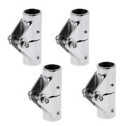 4x 316 Stainless Steel Folding Swivel Connector For 25mm Boat Rail Tube/pipe