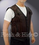 Lost Girl Kris Holden-ried Dyson Thornwood Brown Leather Vest