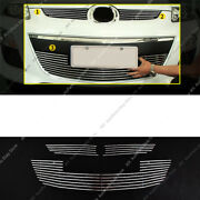 3pcs Metal Mesh Front Bumper Lower+middle Grille Grill J For Mazda Cx-7 2010-12