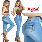 Plus Colombian Jeans Red Tummy Control Butt Lifter Stretch Levanta Cola Slimming