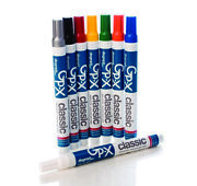 Gp-x Classic Industrial Paint Marker Diagraph-box Of 12 Markers You Pick Color