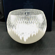 Faberge Glacon Rose Bowl White Cased Crystal Russia