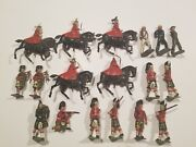 Crescent Lead/metal Toy Soldiers - Vintage Lot - Made In England