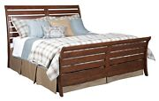 Kincaid Homecoming Vintage Cherry Cumberland Rustic King Sleigh Bed 38-150