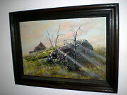 Beautiful Original Oil On Canvas By American Listed Artist Cecil R. Young Jr.