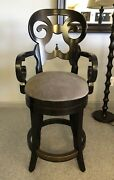 2 Drexel Heritage Gourmet Dining The Lynx Counter Height Bar Stools 587-796