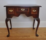 Councill Queen Anne Inlaid Banded Flame Mahogany Lowboy