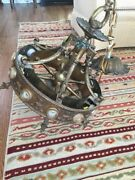 Vintage Bronze/brass 12light Chandelier W/canopy - From 1925 Lakefront Mansion