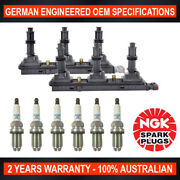 6x Ngk Platinum Spark Plugs And 2x Swan Ignition Coil Pack For Holden Vectra Js2