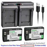Lp-e6 Battery And Dual Usb Charger For Canon Eos 6d 6d Mark Ii 7d Mark Ii 60da