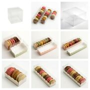 Clear Macaron / Macaroon Boxes Plain Or Inserts Favour Gift Boxes Box Only