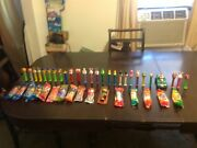 Vintage And New Pez Dispensers Lot Of 42 New And Used