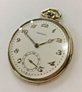 Shreve And Co. Pocket Watch With 14k Solid Gold Casing