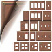 Antique Copper Switch Plate Toggle Outlet Steps Wallplate Cover Rocker Duplex