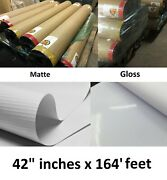 Heavy Duty White Banner Material For Solvent/latex Ink Printers 42 X 164and039 Feet