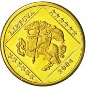 [434414] Lithuania Medal Essai 10 Cents 2004 Ms63 Brass