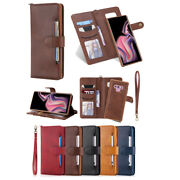 10pcs/lot Multi-function 2 In 1 Wallet Anti-fall Leather Case For Iphone Samsung