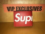 Louis Vuitton X Supreme Red Leather Pf Slender Wallet In Hand Sold Out Nwt And Bo