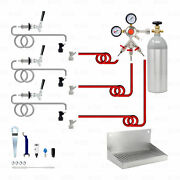 3 Tap Home Brew Beer Kegerator Conversion Kit Dispense From 3 Different Kegs