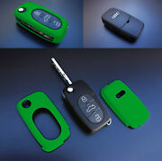 Early Audi Remote Flip Key Cover Case Skin Shell Cap Fob Protection S Line Green