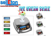 Selleton Ice Cream Scale With Portion And Inventory Control / Over And Under Lights
