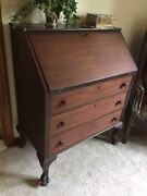 Antique Mahogony Secretary Desk Which Is Over 100 Years Old.