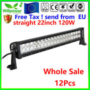 12pcs 22inch 120w Led Work Light Bar For Offroad Suv Ute Jeep Car Truck Driving