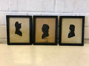 Antique 18th Century American Group Silhouettes Isaac Whitmore W/ Provenance
