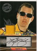 Kyle Busch 18 Press Pass Ignite Race Used Firesuit Authentic Autograph Card