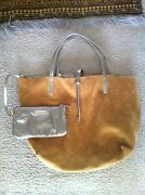And Co Camel/gold Suede Purse Discontinued Style And Color New