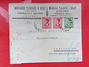 Wwii Censored Letter From Yugoslavia To German Sudetenland With Marks And Stamps