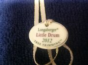 Longaberger Tie-on, 2012 Tree Trimming Little Drum, New