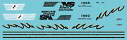 N Scale - Norfolk Southern Sd70acc 1800 Decal Set
