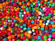 600pcs 10mm Wooden Cube Squared Beads - Assorted / Mixed Colors A22
