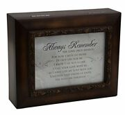 Remember The Love Do Not Cry 8 X 4 Inch Wood Finish Ashes Memorial Urn Box