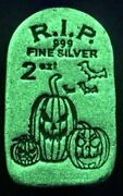 10 Consecutive And039s Tombstone Glow In The Dark Jack-o-lantern - 2 Oz Silver Bars