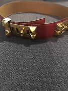 Hermes Cdc Collier De Chien Belt Hot Red Hard To Find Authentic