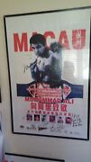 Signed Muhammad Ali 24 X 36 Poster From 1994 Boxing Event In Macau.