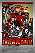 Iron Man 2 By Tyler Stout - Signed - Metal - Rare Sold Out Mondo Print